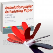 Артикуляционная бумага Бехт / Articulationspaper Becht Подкова красно-синяя
