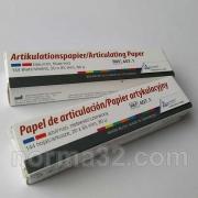 Артикуляционная бумага Бехт / Articulationspaper Becht Полоски красно-синяя