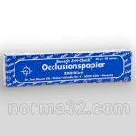 Бумага артикуляционная BK 09 - ПЛАСТИНЫ, синяя (40 мк) листов 200 шт, Bausch (Германия)