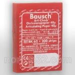 Бумага артикуляционная BK 62 красная (40 мк) листов 200 шт, Bausch (Германия)