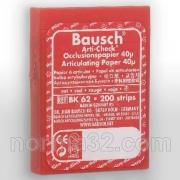 Бумага артикуляционная BK 62 красная (40 мк) 200 шт