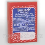 Бумага артикуляционная BK 63 красно-синяя (40 мк) листов 200 шт, Bausch (Германия)