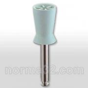 Чашка полировочная резиновая с прорезями №0720 белая 1 шт