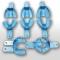 Оттискные ложки пластмассовые одноразовые - набор 10шт (синие), Корея