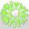 Оттискные ложки пластмассовые автоклавируемые - набор 10шт (зелёные), Корея