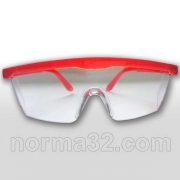 Очки защитные прозрачные с цветной оправой 1 шт