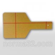 Щиток фотополимерный стоматологический (оранжевый) 1 шт