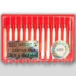 Парапульпарные штифты титановые - упаковка 12шт + развертка (Размеры: 0.6, 0.75 мм), Nordin